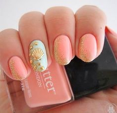 Beach-inspired nails