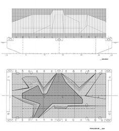 plan + section, croatian pavilion