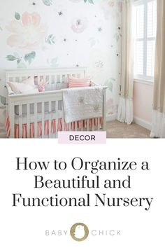 You probably want your nursery to look just as cute as your baby! Here are some tips for a functional, well-organized, and beautiful nursery. Pregnancy Help, Pregnancy Stages, Nursery Modern, Nursery Neutral, Girl Nursery, Nursery Ideas, Baby Due Date, Baby Chicks, Baby Safe