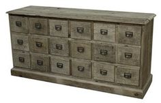 18 Drawer Bleached Pine Chest