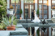 The turle garden at Tower Hill creates a beautiful surrounding for wedding photos. © Pizzuti Photography