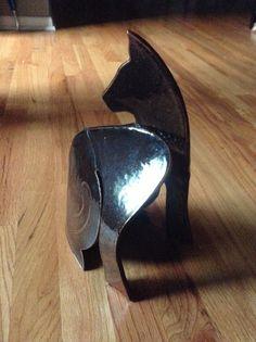 Slab clay cat
