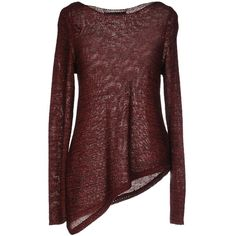 Only Jumper ($23) ❤ liked on Polyvore featuring tops, sweaters, maroon, red long sleeve top, red top, lightweight sweaters, long sleeve jumper and long sleeve sweater