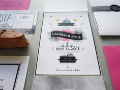 colorful invites