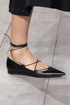 We spotted stunning flats all over the Spring 2015 runways. See our other favorite shoe trends here: