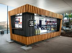 A Shipping Container Cafe or 'Pop Up Cafe' is a great way to make your business stand out. Let Port Shipping Containers show you how. Phone: 1300 957 (How To Build A Shed Shipping Containers) Container Bar, Shipping Container Restaurant, Container Coffee Shop, Container Design, Shipping Container Homes, Shipping Containers, Casas Containers, Containers For Sale, Storage Containers