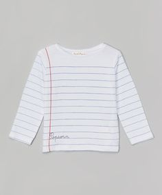 Look what I found on #zulily! White Stripe Scribble Tee - Infant, Toddler & Boys #zulilyfinds