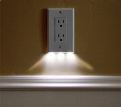 these night light outlet covers use $0.05 of electricity per year and require no additional wiring. would be great for hallways. - gnar productsgnar products