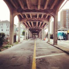 Under the bridge at Rockaway Beach Rockaway Park, Rockaway Beach, Places In New York, Puerto Rico, New York City, Trains, Skate, Summertime, Brooklyn