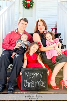PERFECT family Christmas card! Love the way mom is sitting.