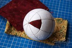 На жёрдочке: Мастер-класс. Новогодний лоскутный шар кимекоми / Kimekomi Christmas Ornament Tutorial