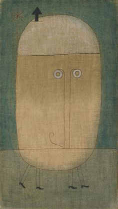"Paul Klee, Mask of Fear. 1932. Oil on burlap, 39 5/8 x 22 1/2"" (100.4 x 57.1 cm). Nelson A. Rockefeller Fund"