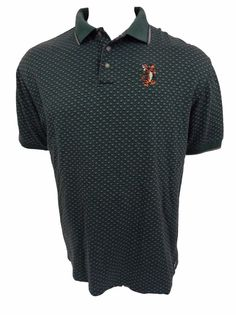 The Disney Store Tigger Polo Shirt Size L Sewn Monogram Cotton Short Sleeve #Disney #PoloRugby