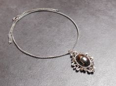 Vintage 1980's Hematite Stoned Necklace