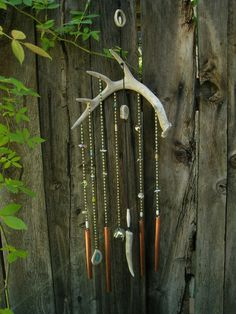 Whitetail Deer Antler Windchime by HintOfNature on Etsy, $55.00