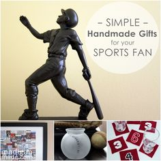 Over 25 simple gifts you can make for any sports fan.