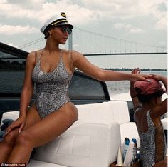Mommy and me! Beyonce shared this sweet snap on Friday of her and three-year-old daughter Blue Ivy sporting coordinating bathing suits on a family boating trip