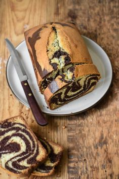 "This Chocolate Vanilla Marble Cake is typically what we call a ""Gâteau régréssif"" in French – meaning it makes you feel like a kid again. Growing up in France, most kids (myself included) wou… Marble Pound Cakes, Marble Cake Recipes, Pound Cake Recipes, Dessert Recipes, Marble Cake Recipe Moist, Vanilla Cake Mixes, Chocolate Cake Mixes, Chocolate Yogurt Cake, Chocolate Marble Cake"