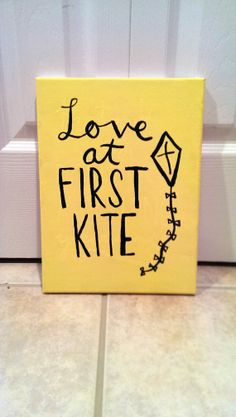 Kappa Alpha Theta Love at First Kite Canvas by QuotesOfNote, $18.00  For all the Theta's...great for giving on bid day...why didn't I think of this?