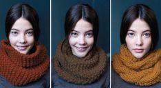 Snood en crochet, tricot ou tissu : il y en a pour tous les goûts :) Via Prima Crochet Snood, Crochet Slippers, Knitted Shawls, Diy Crochet, Loom Knitting, Knitting Patterns, Laine Katia, Point Mousse, La Red