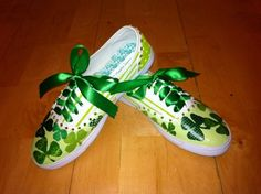 DIY shoes for St. Patty's Day