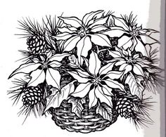 It's just a picture of Inventive christmas flowers coloring pages