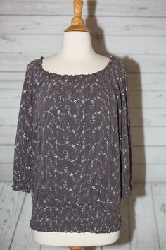 INC INTERNATIONAL CONCEPTS Sz L, Large Embroidered Metallic Lined Blouse Top  #INCInternationalConcepts #Embroidered #EveningOccasion