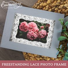 Capture all of your special moments using your embroidery machine! Civil War Quilts, Sarah Kay, Lace Embroidery, Machine Embroidery Designs, Projects To Try, Roses, Decor Ideas, Passion, Sewing