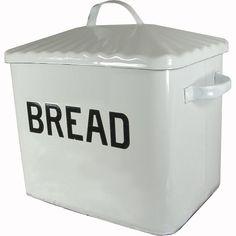 Enameled Metal Vintage Style Bread Box Creative Co-op Box Creative, House Color Palettes, Diy Kitchen Island, Kitchen Ideas, Kitchen Decor, Kitchen Tools, Kitchen Dining, Kitchen Cabinets, Dining Room