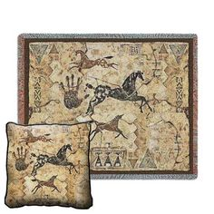 Tlalocs Tribe Tapestry Pillow and Throw Set - Buy at Snugglebug Pillows and Throws www.snugglebugpillowsandthrows.com