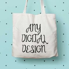 New to DesignGenesStudio on Etsy: Customized print eco tote bag any of our digital designs on a cotton tote bag custom print tote food lover gift (17.50 USD)