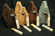 Custom Handcrafted Six Pack Wooden Beer by ReImagineUpCycling, $27.00