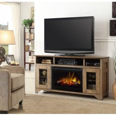 Dimplex Walker Media Console Electric Fireplace