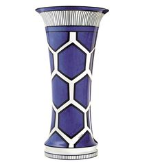 Shop for Hermes Bleus d'Ailleurs Very Large Vase at Kneen & Co, the destination for luxury porcelain, dinnerware and silver.