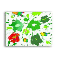 Watercolor Pop Art Floral invitations size Envelope $.90 each