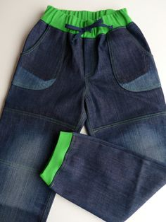 Hose aus alter Jeans / Trousers made from old pair of jeans / Upcycling