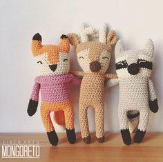 My favorite combo! #fox #deer #raccoon  Mi combo preferido #zorro #venado #mapache