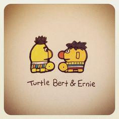 Turtle Bert & Ernie #turtleadayjuly - @turtlewayne- #webstagram