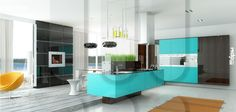 """furniture kitchen RODA, model Amsterdam (model line """"Modern space""""). Facades with 3D by milling"""
