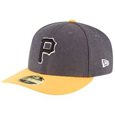 Pittsburgh Pirates New Era Shader Melt 2 Low Profile 59FIFTY Fitted Hat - Charcoal/Gold - $27.99