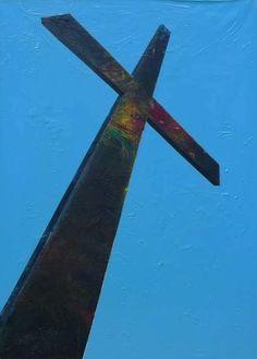 Lazarides // Sebastian Horsley // Exhibition // The Whoresley Show Sacred Art, Religious Art, 21st Century, Wind Turbine, Symbols, Crosses, Gallery, Persona, Image