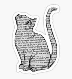 NEWSPAPER CAT tumblr merch! Sticker