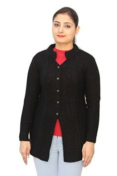 Women Clothing - Romano Basic Red 100 Wool Long Length Warm Winter Sweater Cardigan For Women * More info could be found at the image url.