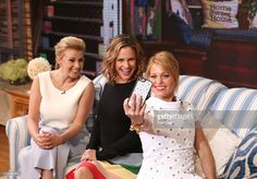 Candace Cameron  Bure on the 'Jacqueline' Dress in Ivory on Good Morning America.