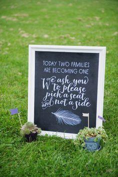 Wedding Signage, pick a seat not a side Wedding Bells, Wedding Ceremony, Our Wedding, Dream Wedding, Wedding Stuff, Reception, Wedding Wishes, Wedding Dreams, Fall Wedding