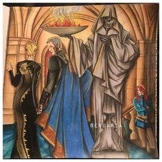 Aelin and Rowan go to the assassins keep to see Arobynn. Coloured by Sendaria.