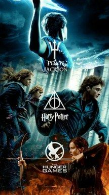 harry potter, hunger games, percy jackson