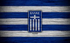 Download wallpapers 4k, Greece national football team, logo, Europe, football, wooden texture, soccer, Greece, European national football teams, Greek Football Federation Football Team Logos, National Football Teams, Greek Dancing, Greek Memes, Greek Flag, Greek History, Sports Wallpapers, Hd Picture, Athens Greece