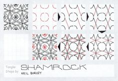 Shamrock - tangle pattern