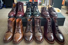 That's a lot of Alden shell cordovan. Oh my.